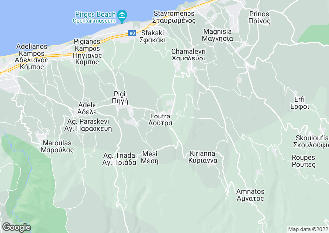 Map for Loutra, Rethymno, Greece
