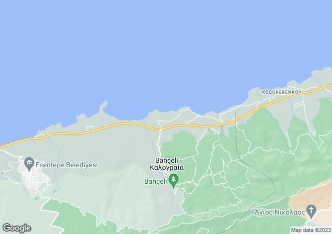 Map for Kyrenia/Girne, Bahçeli