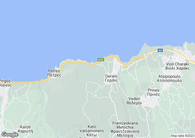Map for Nikiforos Fokas, Rethymnon, Greece
