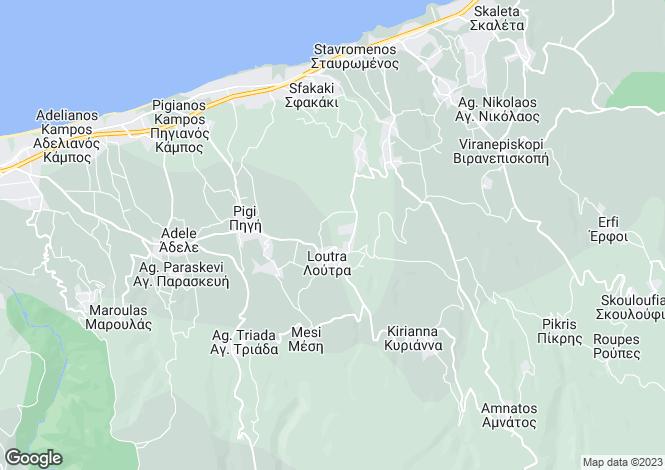 Map for Loutra, Rethymnon, Crete