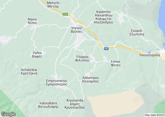 Map for Filipos, Chania, Crete