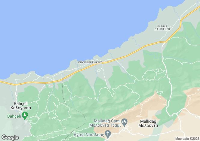 Map for Küçükerenköy, Girne