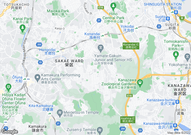 Map for Yamaguchi, Ozuki