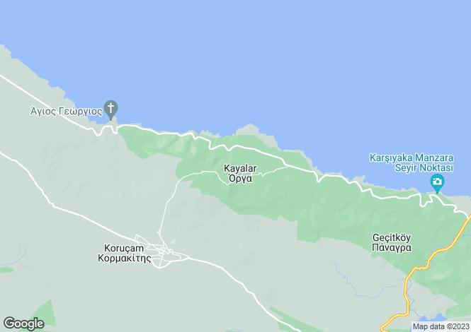 Map for Kyrenia/Girne, Kayalar