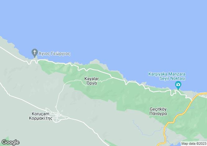 Map for Kayalar, Girne