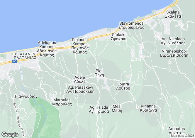Map for Agia Triada, Rethymnon, Crete