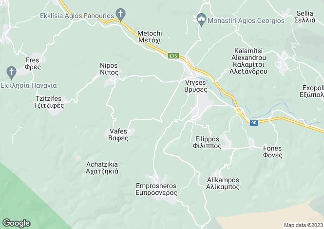 Map for Apokoronas, Chania, Greece