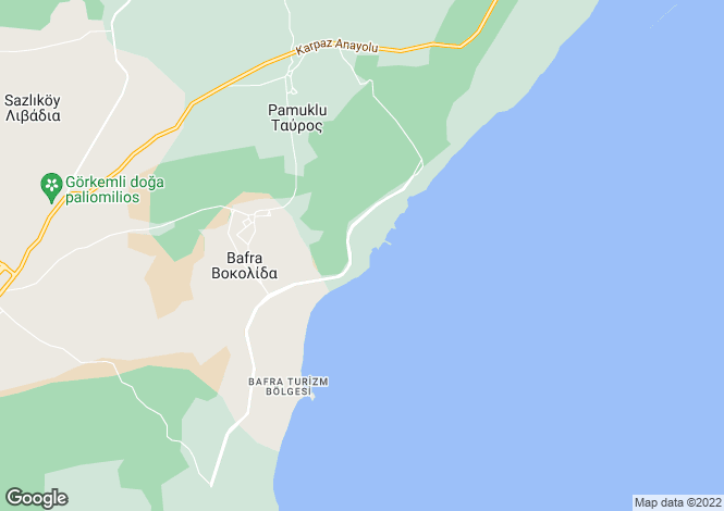 Map for Famagusta, Vokolida
