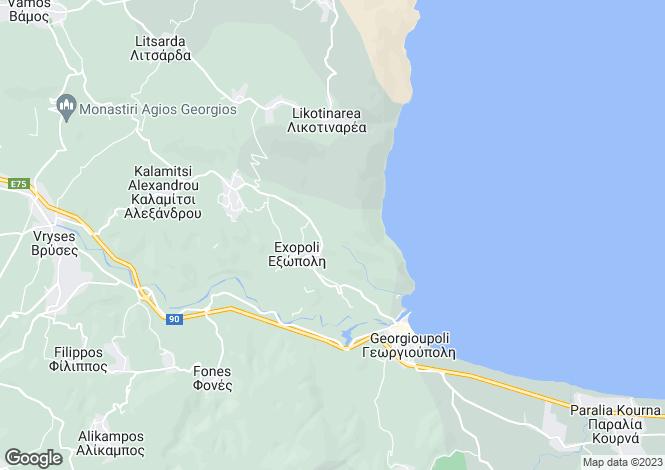 Map for Exopolis, Crete, Greece