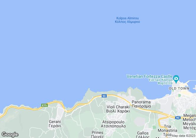 Map for Crete, Rethymnon, Rethymnon