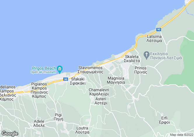 Map for Crete, Rethymnon, Kyrianna