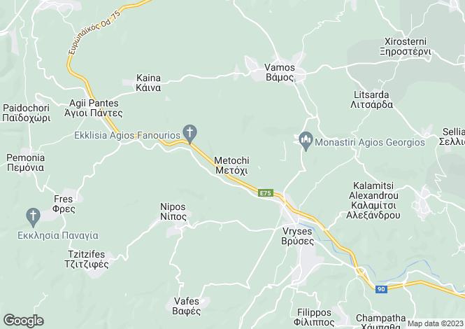 Map for Metoxi, Crete, Greece