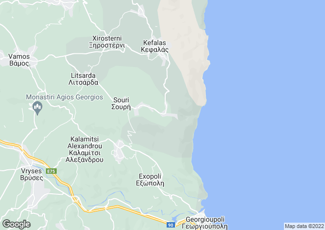 Map for Litsarda, Chania, Greece