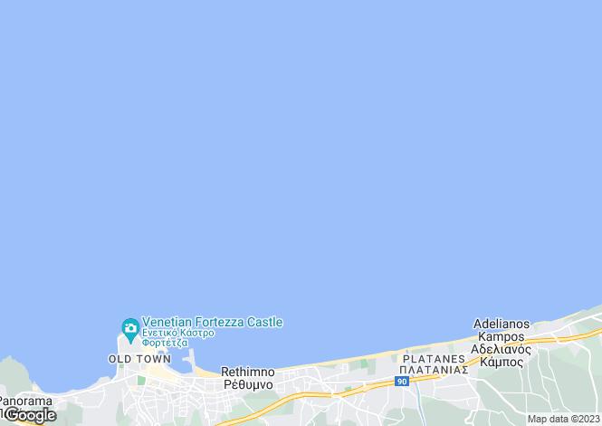 Map for Crete, Chania, Viran Episkopi