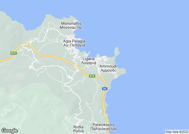 Map for Crete, Heraklion, Lygaria