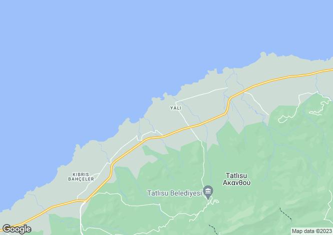 Map for Tatlisu, Northern Cyprus