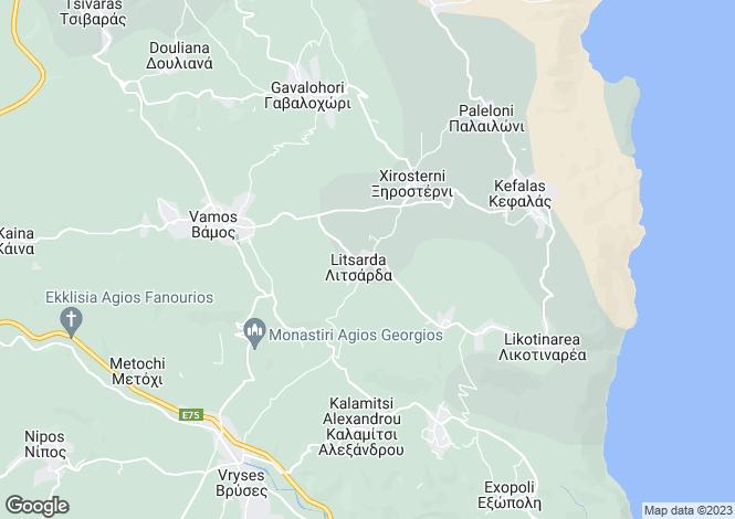 Map for Crete, Chania, Litsarda