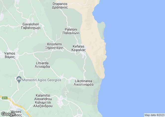 Map for Crete, Chania, Kefalas