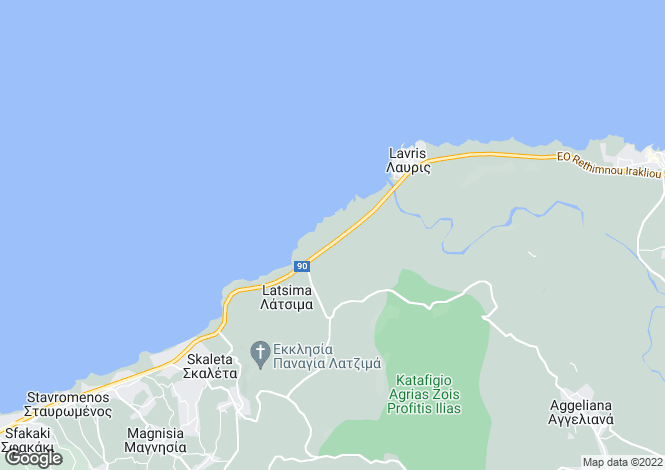 Map for Crete, Rethymnon, Panormos