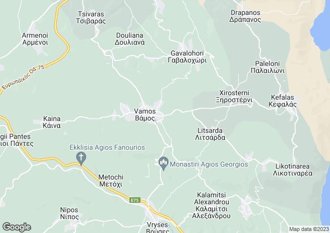 Map for Vamos, Crete, Greece