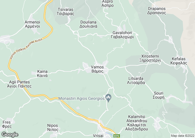 Map for Crete, Chania, Apokoronas