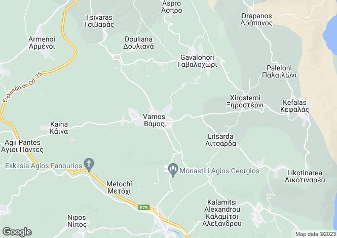 Map for Crete, Chania, Vamos