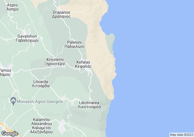 Map for Kefalas, Crete, Greece