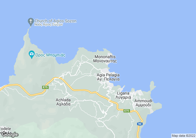 Map for Crete, Heraklion, Agia Pelagia