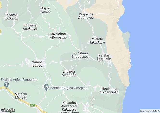 Map for Crete, Chania, Xirosterni