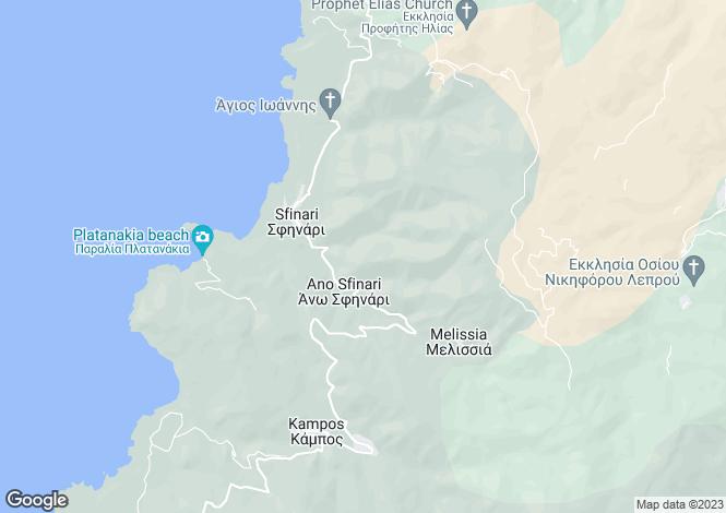 Map for Crete, Chania
