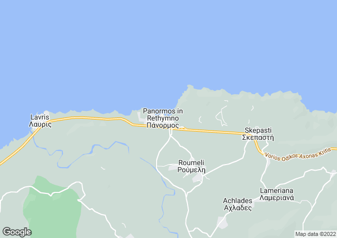 Map for Panormo / Geropotamos / Bali, Rethymnon, Greece