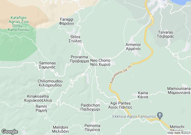 Map for Neo Chorio, Chania, Greece