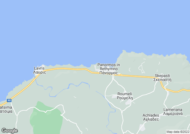 Map for Seafront villa in Panormo, Rethymno
