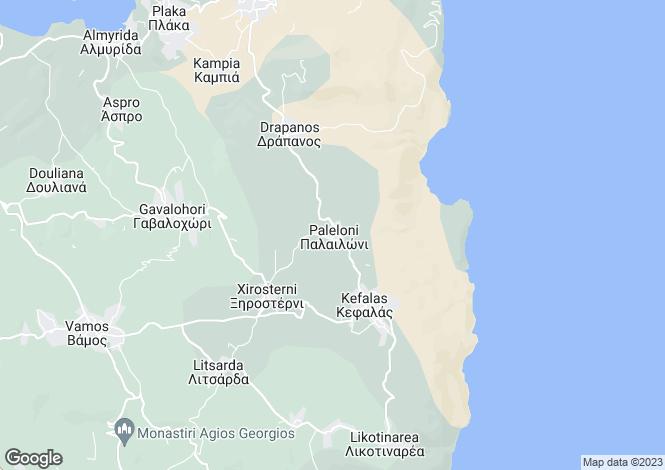 Map for Crete, Chania, Paleloni