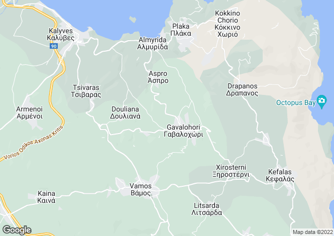 Map for Crete, Chania, Gavalohori