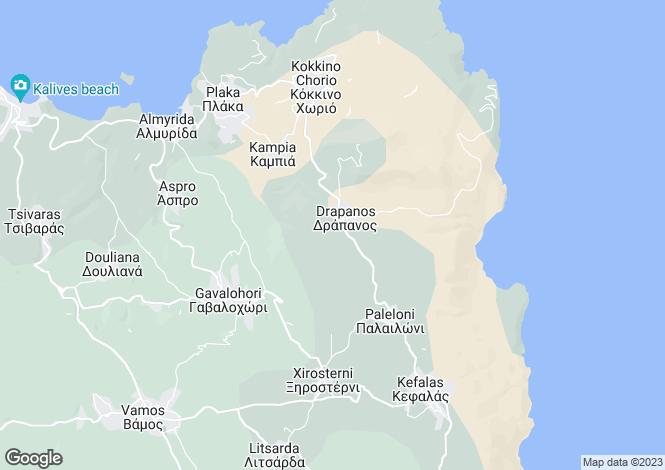 Map for Drapanos, Crete, Greece