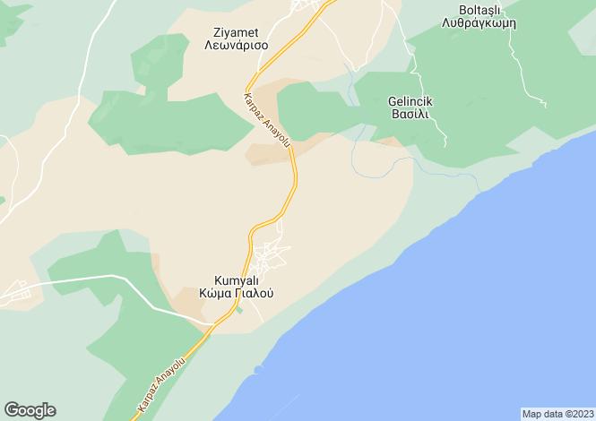 Map for Famagusta, Kumyali