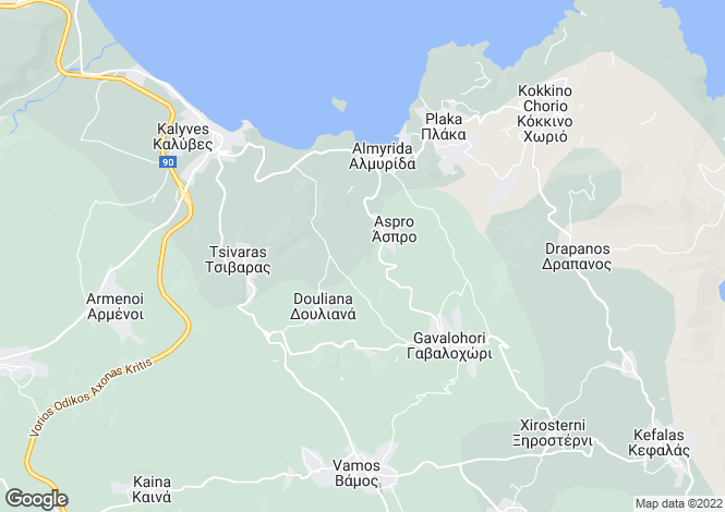 Map for Aspro, Chania, Greece