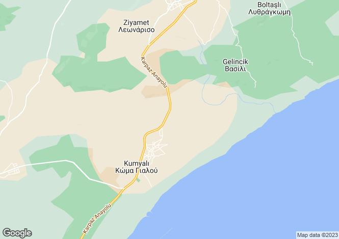 Map for Ziyamet, Famagusta