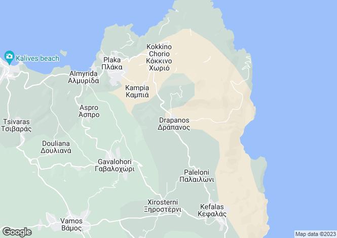Map for Crete, Chania, Drapanos