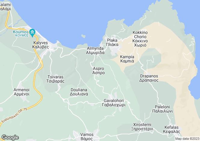 Map for Aspro, Chania, Crete