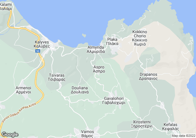 Map for Crete, Chania, Aspro