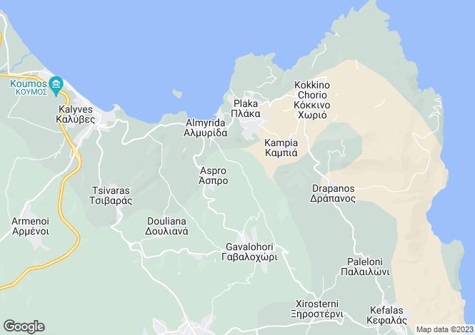 Map for Crete, Chania, Ag Vasillis
