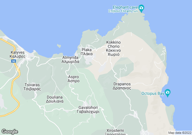 Map for Crete, Chania, Kambia