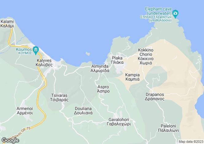 Map for Almyrida, Crete, Greece