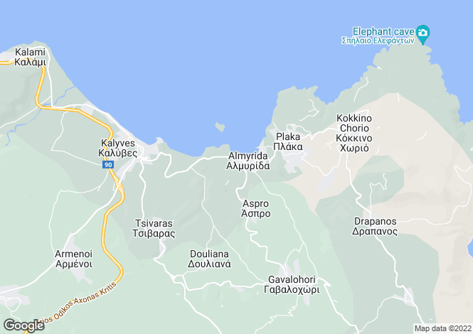 Map for Almyrida, Crete, Greece