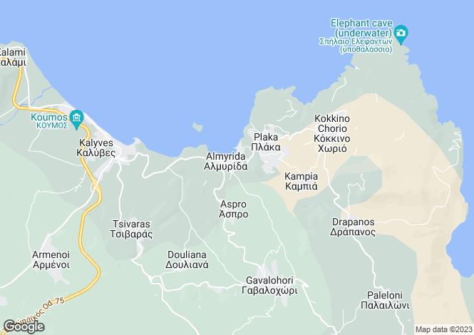 Map for Crete, Chania, Almyrida