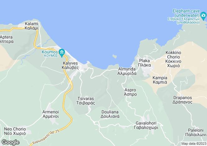 Map for Kera, Crete, Greece