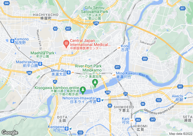 Map for Gifu