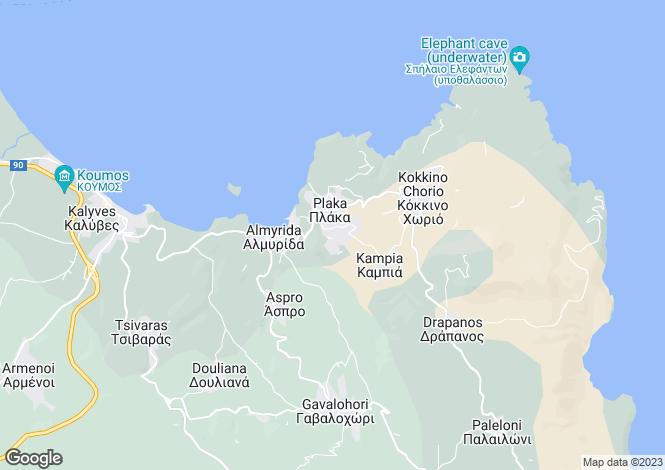 Map for Crete, Chania, Plaka